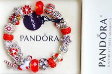 Authentic Pandora 925 Sterling Silver Bracelet  Xmas Gift  Cham Beads