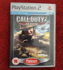 Call of Duty 2 The Big Red One. Mint. PLEASE NOTE: PAL REGION. NOT U.S.
