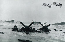 D-Day Harry Parley 1st Wave Omaha Beach 29th Inf. Div. Silver Star WWII SIGNED