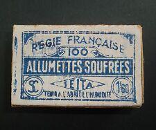 BOITE D'ALLUMETTES SOUFREES SEITA ANCIENNE 1 FRANCS 60 REGIE FRANCAISE MATCHBOX