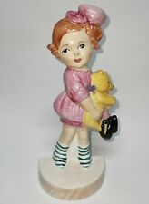 More details for carlton china ware mabel lucie attwell flat back figurine girl with bear modern