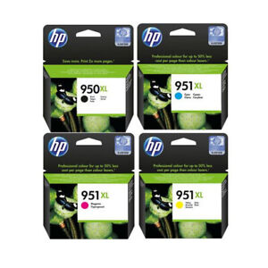 Genuine HP 950XL/951XL Multipack Black and Colour Ink Cartridges 2022