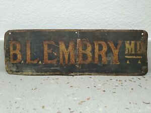 1880-90s DOCTOR'S SIGN