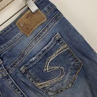 Silver Suki Boot Cut Women's Medium Wash Blue Jeans Size 28 x 30