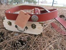 """Unique Handmade Crafted Leather Belt Men's 1.5"""""""