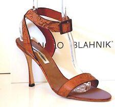 Manolo Blahnik Floral Kitten Pelle Pelle Pelle Heels for Donna     dcca47