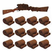 "12Pcs Black 54"" Gun Sock Hunting Sleeve Silicone Treated Rifle Shotgun Sack Bag"