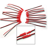 10X Paar JST BEC Stecker/Buchse Kabel Verkabelt-110mm Schwarz Rot Modellbau