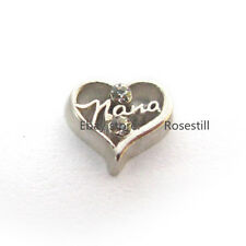 10P NANA Floating charms Fits DIY Glass Living memory For floating Locket FC1357