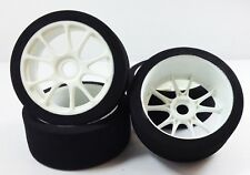 Buggy 1/8 FOAM Tires Glued 17mm White Spoke