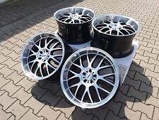 4x Alufelgen ASA AR1 Schwarz Frontpoliert 10,5x 20 Zoll ET35 5x112  ML Mercedes