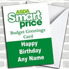 Funny Joke Asda Smart Price Spoof Birthday Customised Card