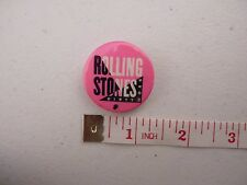 Vtg Rolling Stones Dirty Work Button Pin Pink 1986 #2