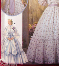 """Simplicity 5442 OOP CIVIL WAR DRESS Size 14-20 Bust 36""""-42"""" Sewing Pattern New"""