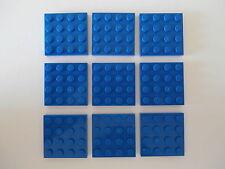 LEGO CITY  / STAR WARS    9  Bauplatten 3031 in blau 4x4 Noppen    NEUWARE