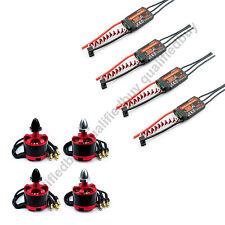4 x 2212 920KV Brushless Motor Red & 4 x E-TECH 30A Simonk ESC for F450 F550 qa