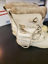 SOREL Manitou white leather winter boots womens size 10