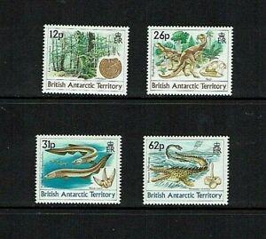 British Antarctic Territory: 1991 Age of the Dinosaurs,  MNH set