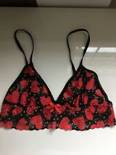 NEW!! HANKY PANKY Original Stretch Lace Bralette Black And Red S SALE!!