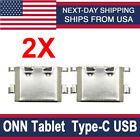 2X ONN Tablet 100003561 / 100003562 Type-C USB Charger Charging Port Connector