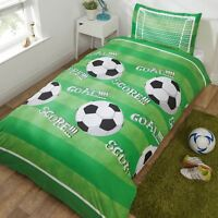 But Score Football Set Housse de Couette Simple Vert Terrain Garçons Literie