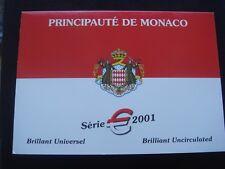Monaco 2001 coin set  1 cents 2 euro 3,88 euro