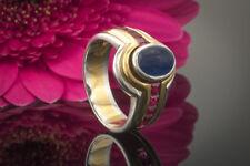 Schmuck Bicolor Ring Saphir und Rubin Blau und Rot 750 Gelbgold Weißgold Bicolor