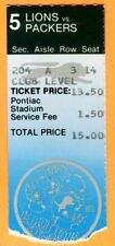 11/22/84 PACKERS/LIONS FOOTBALL TICKET STUB