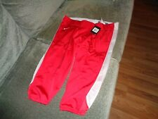 Nwt New Mens Nike 3/4 Open Field Football Pants Red 3Xl Xxxl $70 Retail 615745