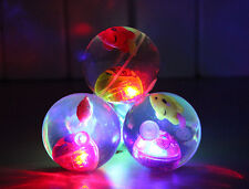 3 Pieces Bouncy Ball With Led Light Flashing Ball Bouncing Ball Toy For Kids