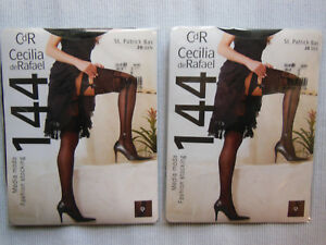 Garter Belt Stockings - Long St. Micky Bas Black with Stripes Cdr Size 3/M
