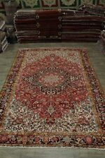 Fantastic Geometric S Antique Original Heriz Persian Rug Oriental Carpet 10X14