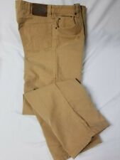 Orvis 5 pocket khaki tan jeans 36 x 31 heavy denim work pants