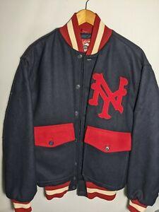 Ebbets Field Flannels Vintage Authentic NY Wool Jacket Men's XLarge