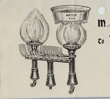 RARE -1906 Imperial Gas Burner lamp Lighting - Billhead Graphics Buffalo NY