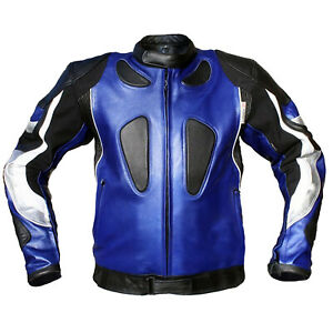 GermanWear Leather Motorcycle Jacket Combination Jacket Made of Cowhide Leather