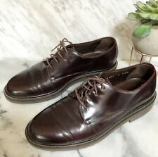 Cole Haan Men's Dress Shoes Brown Lace Up Size 8M Made In Italy Leather Oxfords