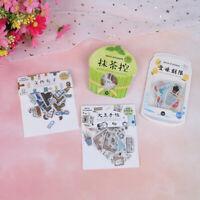 40Pcs Paper Label Stickers Crafts Decorative Sticker Diy  Stationery Stickers*TR