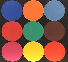 Ellsworth Kelly, Line Form Color Series, Nine Color Circles on Black, 1999
