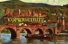 AK Historische Ansichtskarte  Heidelberg  Alte Brücke Schloss