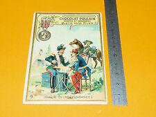 CHROMO CHOCOLAT POULAIN 1900-1910 MEDAILLE MILITAIRE DE L'INDEPENDANCE ITALIE