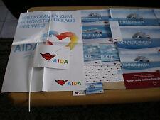 AIDA-URLAUBSERINNERUNGEN-ca 20 Teile,Fähnchen,Plakat,(Poster)Bilderhüllen....usw