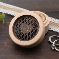 Personalised Wedding Ring Box Rustic Wooden Ring Box Ring Bearer Ring Holder