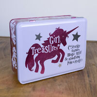 The Bright Side - Girl Treasures Metal Storage Tin - No Grown Up or Boys Allowed