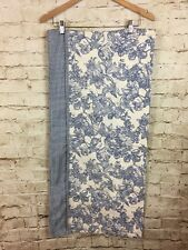 Waverly Valance Garden Room Floral Blue Gingham 70 x 17 French Country Cottage