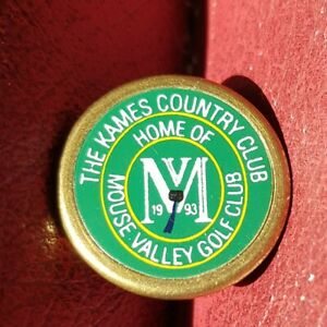 Mouse Valley Golf Club, Kames Country Club, Ball Marker (Vintage Brass)