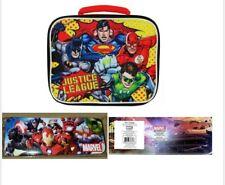 Lauch Bag Justice League Marvel Comics Iron Man/Hulk Tin Pencil Case School New