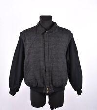 Gant The Tweed Hommes Vintage Gris Foncé Veste Aviateur Taille M