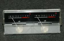 Stereo dB VU-Meter Zeigerinstrument beleuchtet SCHNEIDER mit Peak-LED 6070