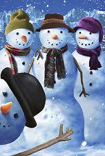 """Snowman Photobomb"" 28"" House Flag by TOLAND"